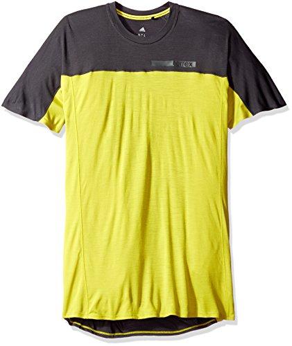 adidas Outdoor Terrex Solo de los Hombres Camiseta, Hombre, Unity Lime