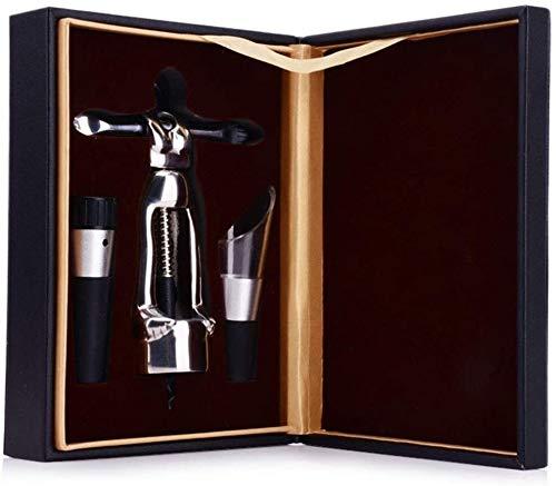 HLR Sacacorchos Abrelatas de Vino Abrelatas de Botella abridor Sacacorchos Sacacorchos 304 Botellas de Vino de Acero Inoxidable Conjuntos de Vino del abrelatas de Stopper humanoide Creativas