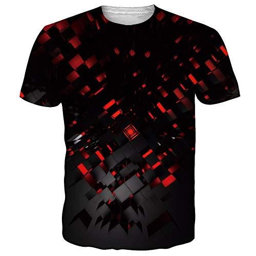 NEWISTAR Unisex Jugend 3D Druck Grafik Casual Kurzarm T-Shirt , Schwarz1, XL