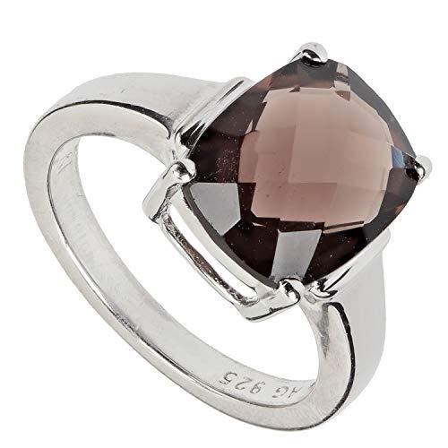 Harry Ivens Damen Ring aus Silber 925 mit Rauchquarz braun 50 (15,9 mm Ø)