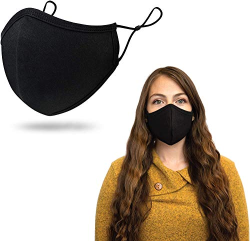 Face Mask for Men and Women Elastic Ear Straps with Adjustable Toggles | 3 Layer