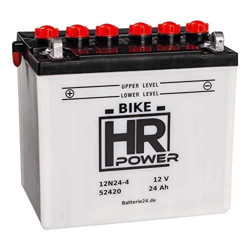 HR Bike Power Rasentraktor 12V 24Ah 12N24-4 52420 wartungsfrei