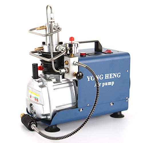 YONG HENG High Pressure Air Compressor Pump,Adjustable Control with Auto-Stop 110V 30Mpa Electric Air Pump Air Rifle PCP 4500PSI Paintball Fill Station for Fire Fighting and Diving