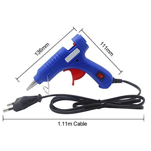 VVA 20W Hot Melt Pegamento Pistola con 7mm Barras de Pegamento Industrial Mini Armas Termo Eléctrico de Calor Temperatura de Reparación de Herramientas de Bricolaje