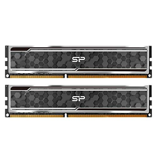 Silicon Power Gaming Series DDR4 16GB (8GBx2) 3200MHz (PC4 25600) 288-pin CL16 1.35V UDIMM Desktop Memory Module RAM with Heatsink (Black/Grey). Buy it now for 73.97