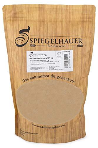 Bio Traubenkernmehl 1 kg ROH Traubenkerne extra fein zu Pulver vermahlen laktosefrei glutenfrei