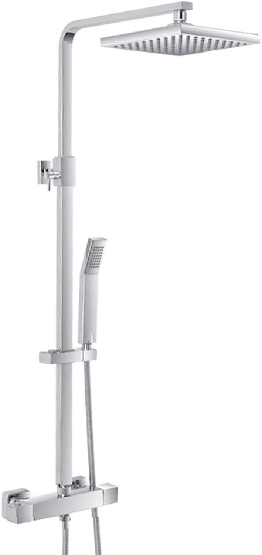 Feridras Shower Column in Chrome-Plated Steel Adjustable Shower Head