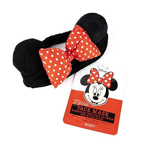 MAD Beauty Pack Mascarilla Facial + Banda Felpa Minnie Licencia Oficial Disney, Translúcido, 25 Ml