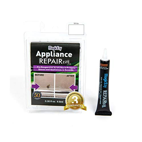 MagicEzy Appliance Repairezy (White) - Appliance Touchup - Fills and Repairs Deep Chips and Scratches Fast - Virtually Undetectable