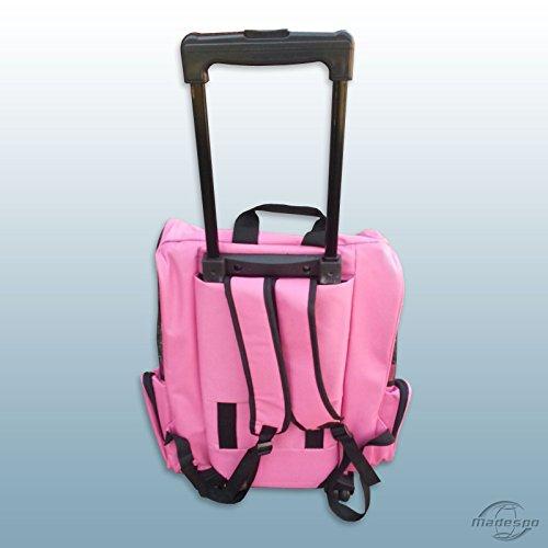 Hundetrolley / Transport für Hunde / Trolley & Rucksack XL Pink