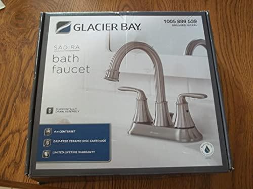 glacier bay glacier bay Sadira Bathroom Faucet - Brushed Nickel - HD67513w-6004