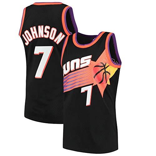 WSWZ NBA Basketball Trikot, Phoenix Suns 7# Kevin Johnson Herren Trikot NBA Basketball Sport T-Shirt Unisex Komfortables Trainings Trikot,S(165~170CM/50~65KG)