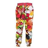 BLACKHEI Pantalones casuales coloridos de los hombres lindos de la impresión del caramelo, Tywklj424, 31-35