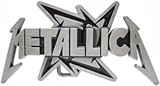 Belt Buckle Vintage Silver Metallica Star Mens Rock Band Merch for Leather