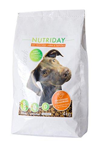 NUTRIDAY Trockenfutter LAMM & TAPIOKA, getreidefrei, ohne künstliche Zusätze, 4 kg
