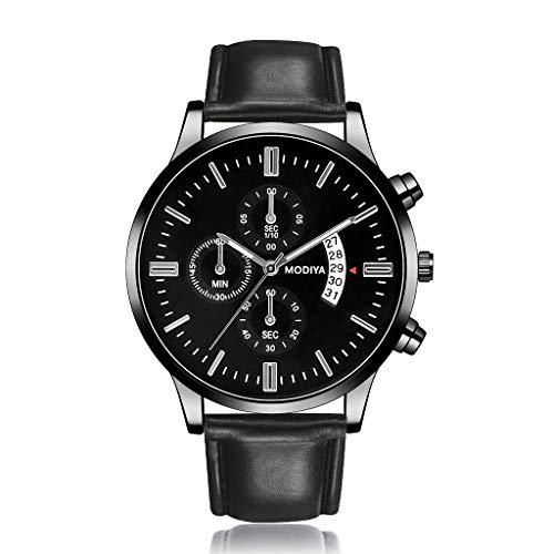 VIMI Relojes El Reloj Digital de los Hombres de marcación clásica Grande Impermeable con el Calendario Relojes de Pulsera (Color : Black)