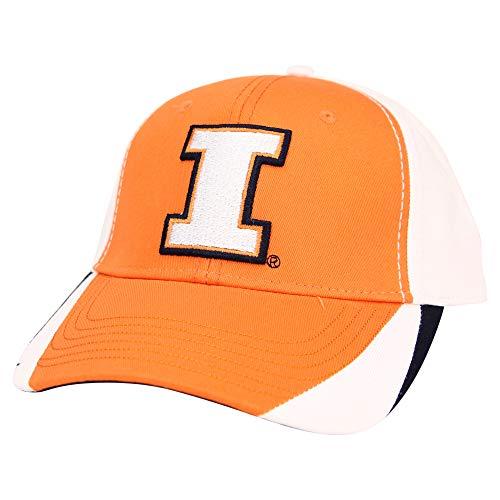 Captivating Headgear NCAA Baseballkappe für Erwachsene, verstellbar, Unisex-Erwachsene, Illinois Fighting Illini (dreifarbig), Einheitsgröße