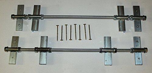 1 Stück Pitzl® Schornsteinhalter massiv Sparrenhalter für Schornstein Kaminhalter 6 mm Stahl M20 8.8 Gewindestangen