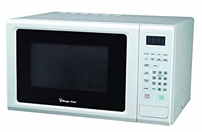 Magic Chef Cu. Ft Countertop Oven with Push-Button Door in White MCM1110W 1.1 cu.ft. 1000W Microwave