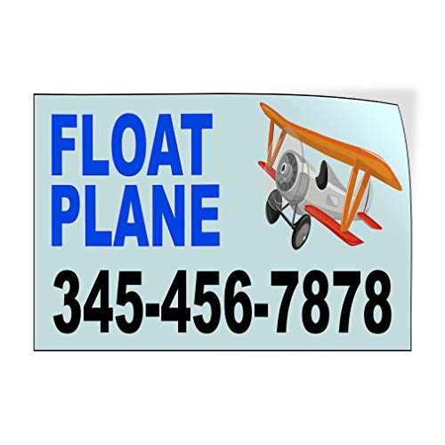 Custom Door Decals Vinyl Stickers Multiple Sizes Float Plane Phone Number Blue Cars /& Transportation Float Plane Outdoor Luggage /& Bumper Stickers for Cars Blue 52X34Inches Set of 5