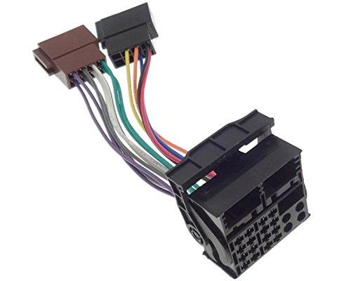 Anschlusskabel Radio NAVI Quadlock ISO Kabel Adapter Stecker kompatibel mit BMW Audi Seat Skoda VAG DB OPEL Ford