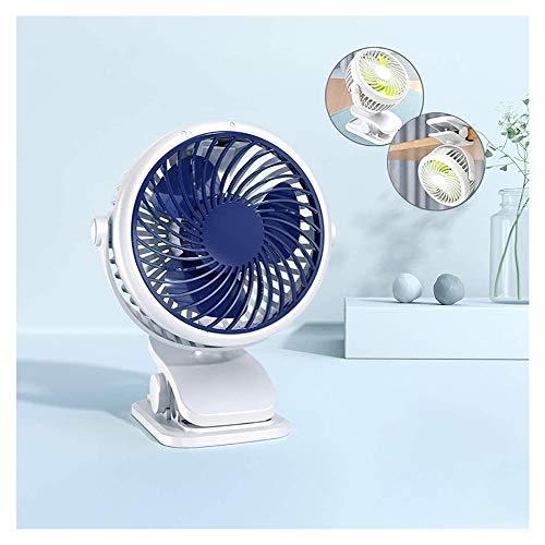 Clip-Art Handventilator, mini formaat, USB-ventilator, schrijftafel, USB-ventilator, 720 graden, hoekinstelling, 2000 mAh batterij, geschikt voor school / slinger / outd