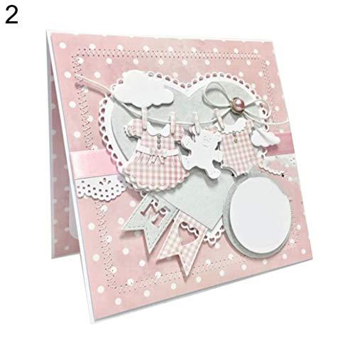 lamta1k Stanzschablone Stanzmaschine,Baby-Kleidung Metall DIY Scrapbooking Embossing Papier-Karten-Schablone - 2#