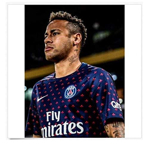 Neymar Jr 10 Paris Saint-Germain Psg Barcelona Póster de fútbol Lienzo Pintura...