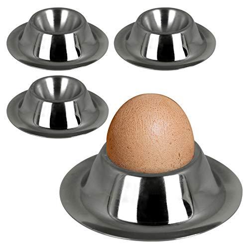 TW24 Eierbecher 4 Stück Eierhalter Edelstahl Eierständer Set Egg Cups Eier Becher Ei Halter