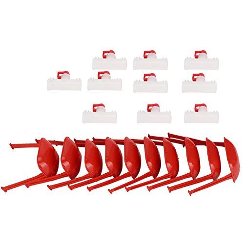 Cuque Práctica Fuente para Beber Pollo de ABS, bebederos de tetina G1 / 2 Copa Colgante Bebederos de tetina Bebederos de tetina, fácil de Instalar automático(Six Points Hanging Cup)