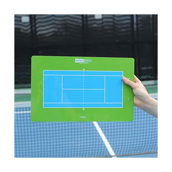 OnCourt OffCourt Tennis Coach's Clipboard – 9″ x 16″ Dry-Erase / Clip Papers on the Back / Dry-Erase Marker Included