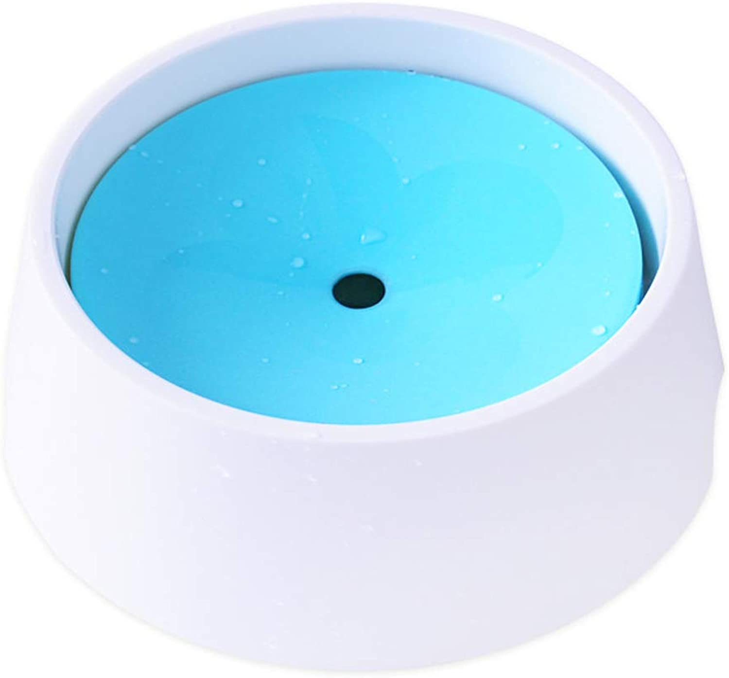 Dog Bowl Water and Food with Floating Disk Pet Bowl, Slow Feeder AntiChoking AntiOverflow Bowl,Skid and AntiChoking Dripless Bowl,for Small Or Large Breeds,bluee