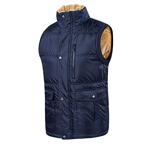 CHIYEEE Heren Winter Gilet Warm Mouwloos Jas Down Katoen Jas Vest Top voor Papa M-6XL
