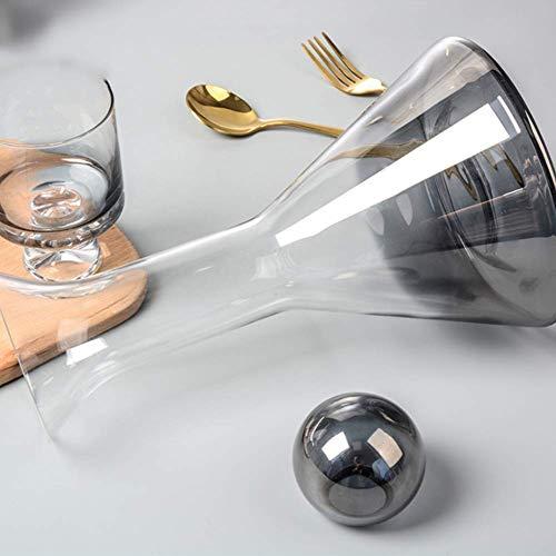 ROSG Juego de decantador de Whisky de Cristal sin Plomo (1500 ml) con 2 Vasos de Whisky (2 * 260 ml), Juego de decantador de Licor para Bourbon, escocés, Vodka o Whisky, Idea de Regalo con a