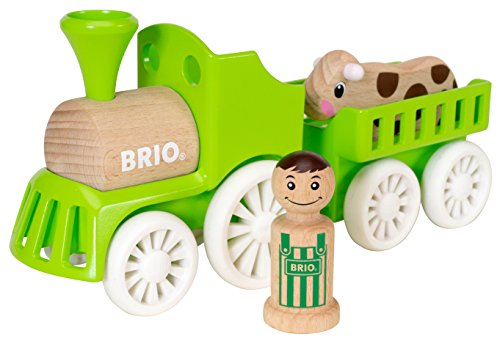 BRIO 30267 - My Home Town Lok mit Kuh-Anhänger