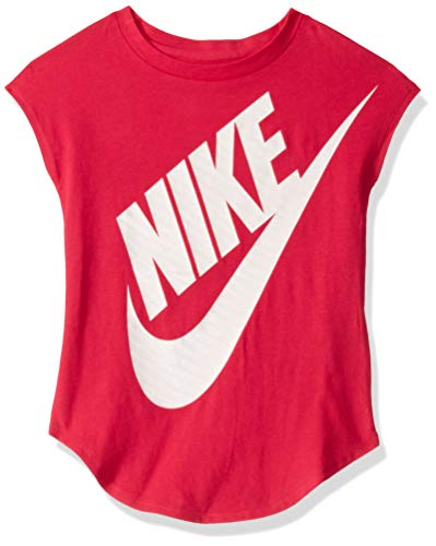 NIKE Children's Apparel Girls' Little Sportswear Graphic T-Shirt, Rush Pink, 4