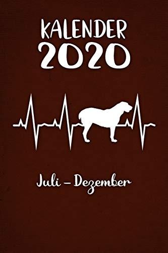 Kalender 2020: Brauner Tageskalender Alabai Herzschlag Hunde 2. Halbjahr Juli Dezember ca...