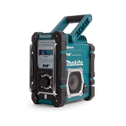 Makita DMR112 Akku-Baustellenradio 7,2 V - 18 V mit DAB+ und Bluetooth (ohne Akku, ohne Ladegerät), türkis