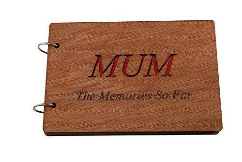 Pirantin Álbum de Fotos o Cuaderno con Texto en inglés Mum The Memories So Far, Ideal para Regalar a mamá, Día de la Madre o cumpleaños
