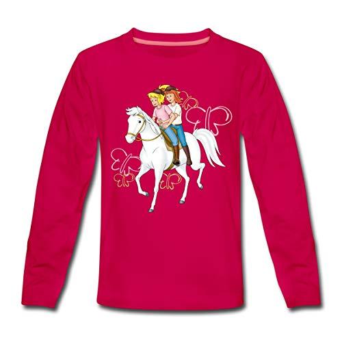 Bibi Und Tina Reiten Auf Stute Sabrina Kinder Premium Langarmshirt, 110-116, Dunkles Pink