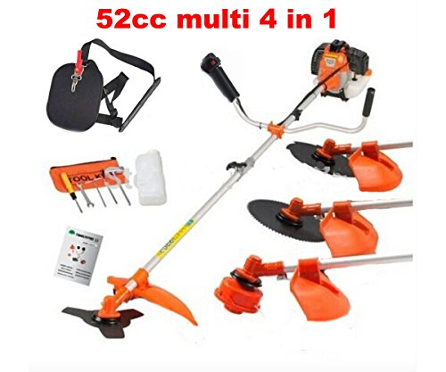 CHIKURA Multi powerful 52cc gasoline brush cutter 4 in 1...