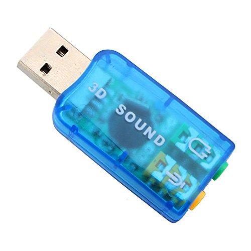 Zerone Adattatore Audio USB Esterno, USB2.0 3D 5.1 Canali Audio PC Scheda Audio Adattatore per Cuffie USB
