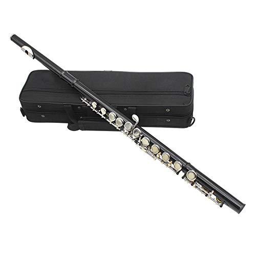 Juego de Flauta, Salida Cuadrada con Caja de Cuero de PU Flauta Desmontable, Instrumento de Viento de Flauta Regalo de cumpleaños de Navidad de Acción de Gracias para Tocar y Aprender