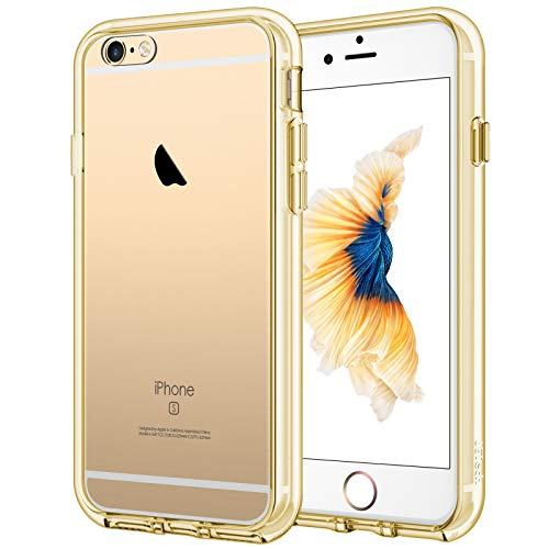 JETech Cover Compatibile iPhone 6 / 6s, Custodia con Paraurti Assorbimento Degli Urti e Anti-Graffio, Oro