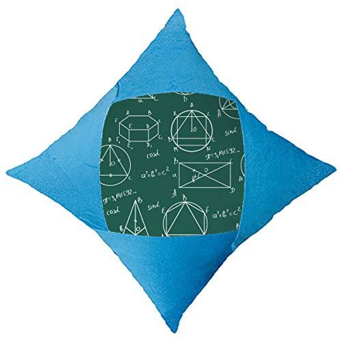 catty bluss Kissenhülle Dekorative Dekokissen Geometrische mathematische Formelrechnung Kissenbezüge Zierkissenbezug Zierkissenhülle für Weihnachten aus Super Weicher und Flauschiger Uni Farbe Samt