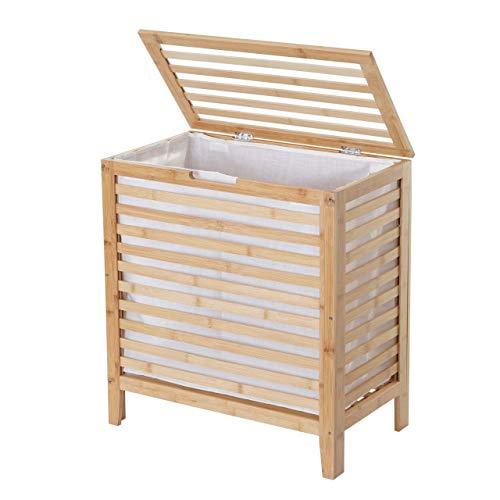 Mendler Baule cesta portabiancheria Decorativo HWC-B92 bambù