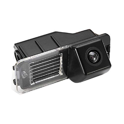 Farb Rückfahrkamera integriert in die Nummernschildbeleuchtung Kamera mit Distanzlinien für VW Scirocco Polo Amarok (2H) Golf 6 5K GTI VI Passat CC Passat B7 (Sedan) EOS GP (1F)