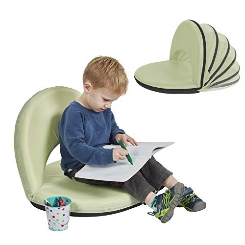 ECR4Kids Spectator Floor Chair with Adjustable Back Support - Portable Flexible Seating with 6 Backrest Positions - Indoor Outdoor Classroom, Gaming, Meditation, Camping, Stadium Seat (Mint Green)