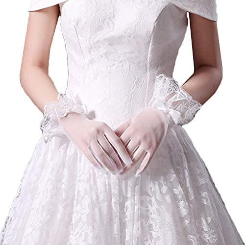 Gants de mariée mariage robes de soirée dentelle gants courts B09