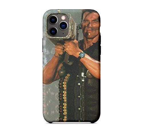 Arnold Iron Schwarzenegger John Matrix in Commando_MA2004 for iPhone 11 MAX Protective Phone Mobile Smartphone Case Cover Hard Plastic Funny Gift Christmas